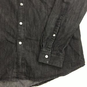 9fb595e0cf ASOS Shirts - ASOS Dark Grey Denim Button Up Shirt